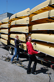 Rental Fleet of Souris River Canoes, Killarney Outfitters, Killarney Provincial Park