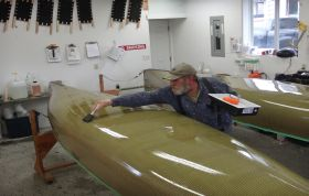 Tipping Tom - marine epoxy to a mirror finish